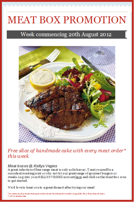 Free Cake Meat Promotion